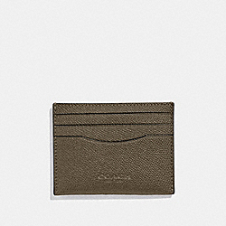 COACH 89709 Slim Card Case QB/UTILITY GREEN