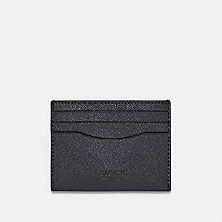 COACH 89709 Slim Card Case QB/INDUSTRIAL GREY