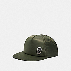 COACH 89722 Solid Nylon Trucker Hat FATIGUE