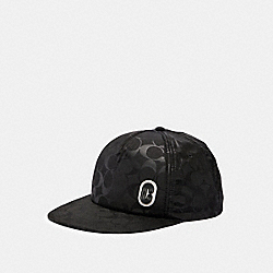 COACH 89723 Signature Nylon Trucker Hat BLACK