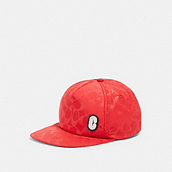 COACH 89723 Signature Nylon Trucker Hat RED