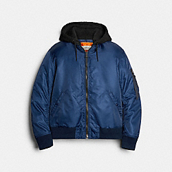 COACH 89726 - NYLON HOODED MA-1 JACKET NAVY