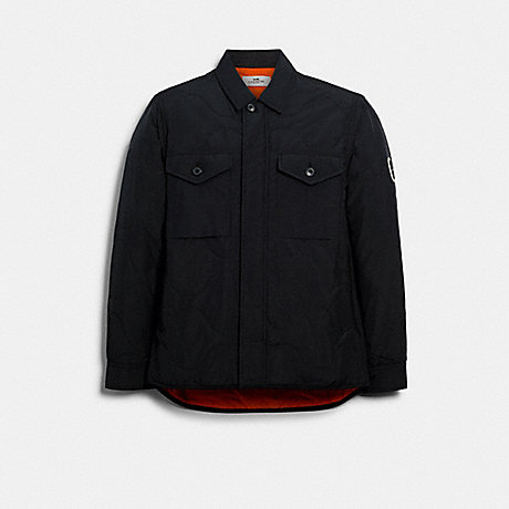 COACH 89727 QUILTED SHIRT JACKET BLACK