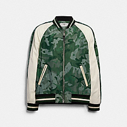 LIGHTWEIGHT NYLON JACKET - 89734 - GREEN CAMO