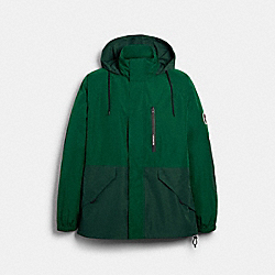 COACH 89735 - RAIN REACTIVE WINDBREAKER LEAF GREEN DEEP GREEN