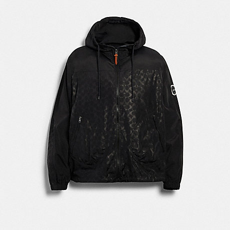 COACH 89736 WINDBREAKER BLACK SIGNATURE