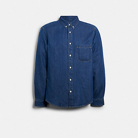 COACH 89737 DENIM SHIRT BLUE