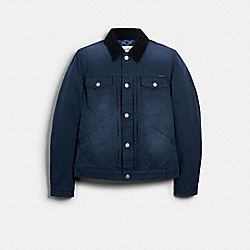 WASHED DUCK TRUCKER JACKET - 89740 - DUSK