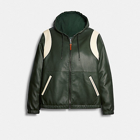 COACH 89744 REVERSIBLE LEATHER VARSITY TRAINER DEEP GREEN