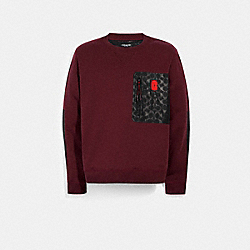 MIXED MEDIA SWEATSHIRT - 89748 - MAROON