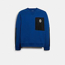 COACH 89748 Mixed Media Sweatshirt SAPPHIRE