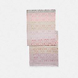 COACH 89772 - SIGNATURE OMBRE STRIPE OBLONG SCARF CHALK MULTI