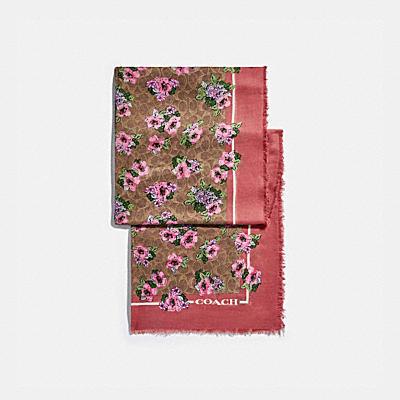 【オンライン限定】シグネチャー ノスタルジック ブロッサム プリント オブロング スカーフ
