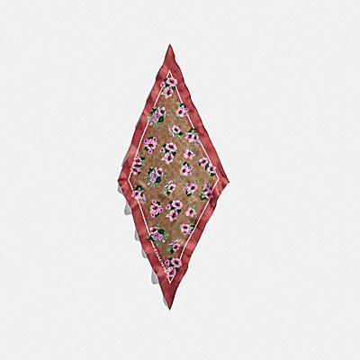 【オンライン限定】シグネチャー ノスタルジック ブロッサム プリント シルク ダイヤモンド スカーフ