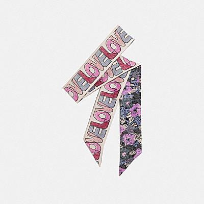 【オンライン限定】ラブ ノスタルジック ブロッサム プリント シルク スキニー スカーフ