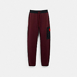 MIXED MEDIA JOGGER - 89787 - MAROON