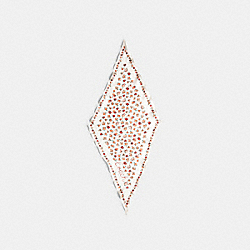 COACH 89796 - ESSENTIAL TEA ROSE SILK DIAMOND SCARF CHALK