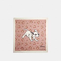 DISNEY X COACH DALMATIAN FLORAL PRINT SILK BANDANA - 89848 - BLOSSOM
