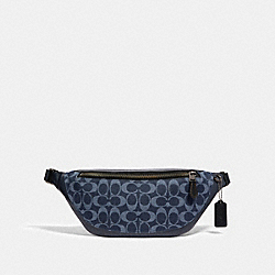 WARREN BELT BAG IN SIGNATURE DENIM - 89885 - QB/DENIM