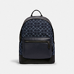 WEST BACKPACK IN SIGNATURE DENIM - 89886 - QB/DENIM