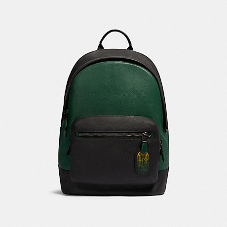 COACH 89887 WEST BACKPACK IN COLORBLOCK WITH COACH PATCH QB/VINE-MULTI