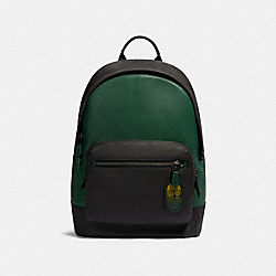 WEST BACKPACK IN COLORBLOCK WITH COACH PATCH - 89887 - QB/VINE MULTI