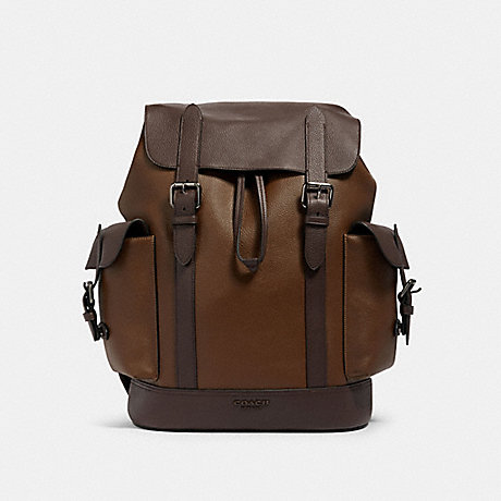 COACH 89898 HUDSON BACKPACK IN COLORBLOCK QB/TOBACCO-MAHAGONY