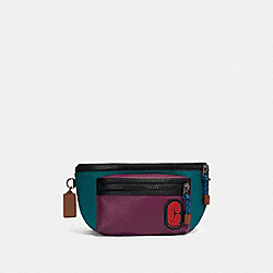 COACH 89907 - TERRAIN BELT BAG IN COLORBLOCK WITH COACH PATCH QB/DARK SEA GREEN PLUM MULTI