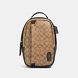 COACH 89909 Edge Pack In Signature Canvas QB/TAN
