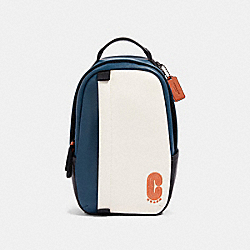 COACH 89912 Edge Pack In Colorblock QB/CHALK/AEGEAN/ORANGE CLAY