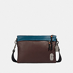 COACH 89916 Edge Messenger In Colorblock QB/OXBLOOD AEGEAN MULTI