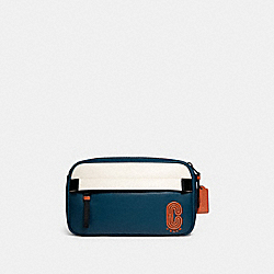 COACH 89920 Edge Belt Bag In Colorblock QB/AEGEAN/CHALK/ORANGE CLAY