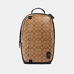 COACH 89922 Edge Backpack In Signature Canvas QB/TAN
