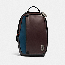 COACH 89924 - EDGE BACKPACK IN COLORBLOCK QB/OXBLOOD AEGEAN MULTI