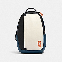 COACH 89925 Edge Backpack In Colorblock QB/CHALK/AEGEAN/ORANGE CLAY