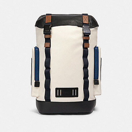 COACH 89931 RANGER BACKPACK WITH MOUNTAINEERING DETAIL QB/CHALK MULTI