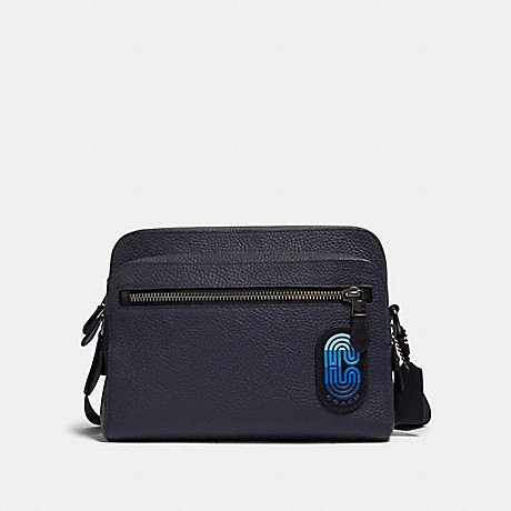 COACH 89964 WEST CAMERA BAG IN COLORBLOCK WITH COACH PATCH QB/MIDNIGHT NAVY MULTI