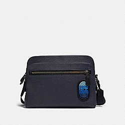 WEST CAMERA BAG IN COLORBLOCK WITH COACH PATCH - 89964 - QB/MIDNIGHT NAVY MULTI