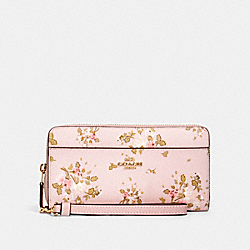 COACH 89966 Accordion Zip Wallet With Rose Bouquet Print IM/BLOSSOM MULTI