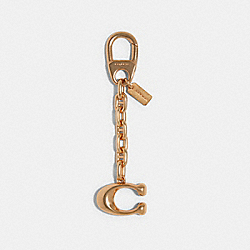 COACH 90019 3d Signature Bag Charm IMITATION GOLD