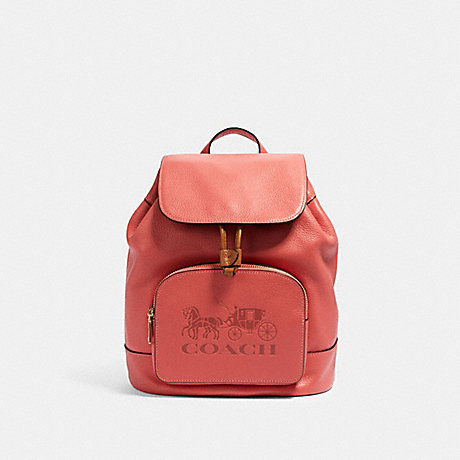 COACH 90399 JES BACKPACK IM/BRIGHT-CORAL