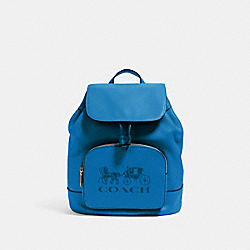 JES BACKPACK WITH HORSE AND CARRIAGE - 90399 - SV/BLUE JAY