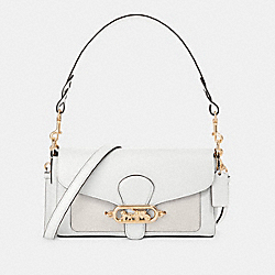 SMALL JADE SHOULDER BAG WITH SIGNATURE CANVAS DETAIL - 90782 - IM/CHALK/GLACIERWHITE
