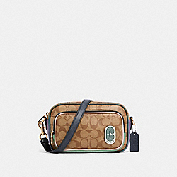 COURT CROSSBODY IN SIGNATURE NYLON - 91009 - IM/KHAKI MULTI