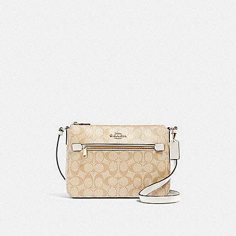 COACH 91013 GALLERY FILE BAG IN SIGNATURE CANVAS IM/LIGHT-KHAKI-CHALK