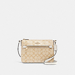 COACH 91013 Gallery File Bag In Signature Canvas IM/LIGHT KHAKI CHALK