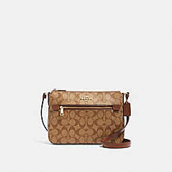 COACH 91013 Gallery File Bag In Signature Canvas IM/KHAKI SADDLE 2