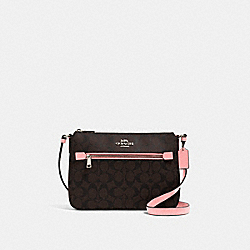 COACH 91013 - GALLERY FILE BAG IN SIGNATURE CANVAS QB/BROWN PINK LEMONADE
