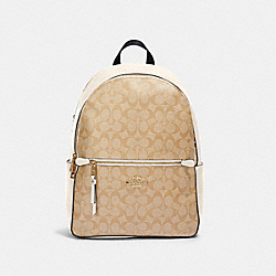 COACH 91018 - ADDISON BACKPACK IN SIGNATURE CANVAS IM/LIGHT KHAKI CHALK
