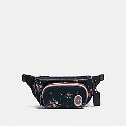 COACH 91021 - COURT BELT BAG WITH ROSE BOUQUET PRINT QB/MIDNIGHT MULTI